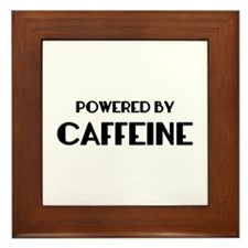 Powered By Coffee Framed Tile