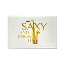 Saxy And I Know It Rectangle Magnet