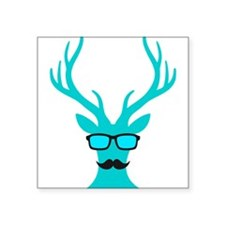 Christmas deer with mustache and nerd glasses Stic