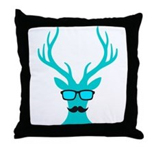 Christmas deer with mustache and nerd glasses Thro