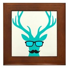 Christmas deer with mustache and nerd glasses Fram