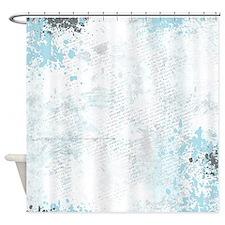 Blue grunge - sharp edge Shower Curtain