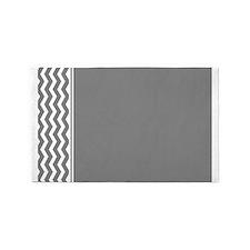 Charcoal Grey Chevron 3'x5' Area Rug