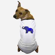 Henna Elephant (Blue/grey) Dog T-Shirt