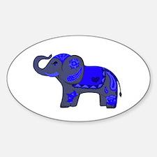 Henna Elephant (Blue/grey) Decal