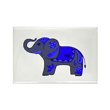 Henna Elephant (Blue/grey) Magnets