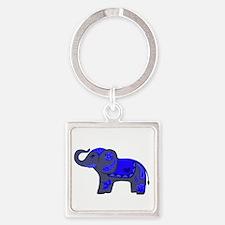 Henna Elephant (Blue/grey) Keychains