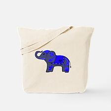 Henna Elephant (Blue/grey) Tote Bag