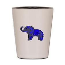 Henna Elephant (Blue/grey) Shot Glass