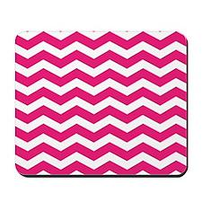 Hot Pink Chevron Mousepad