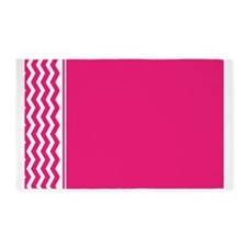 Hot Pink Chevron 3'x5' Area Rug