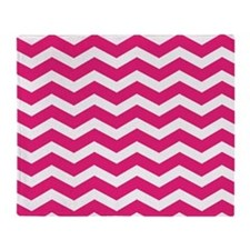 Hot Pink Chevron Throw Blanket