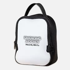 Funny Bbq smoking Neoprene Lunch Bag