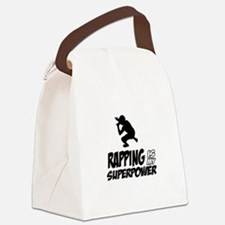 Rapping is my Superpower Canvas Lunch Bag