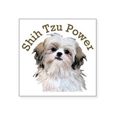 "Shih Tzu Power Square Sticker 3"" x 3"""
