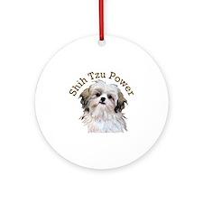 Shih Tzu Power Round Ornament