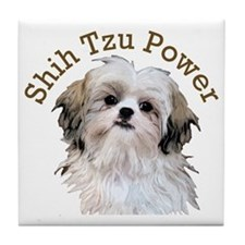 Shih Tzu Power Tile Coaster