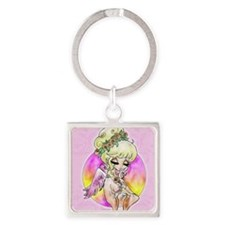 Faith Angel  Square Keychain