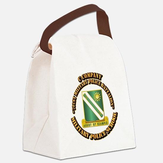 C Company - 701st MPB w Text Canvas Lunch Bag