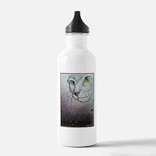Cat, cat face, art Water Bottle