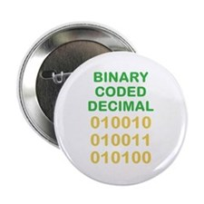 "Binary Coded Decimal 2.25"" Button"