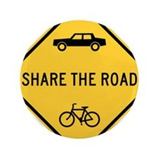 """Share the Road 3.5"""" Button"""