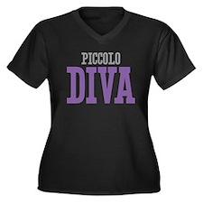 PIccolo DIVA Women's Plus Size V-Neck Dark T-Shirt