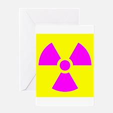 Radiation Warning Greeting Cards