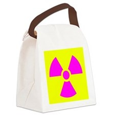 Radiation Warning Canvas Lunch Bag