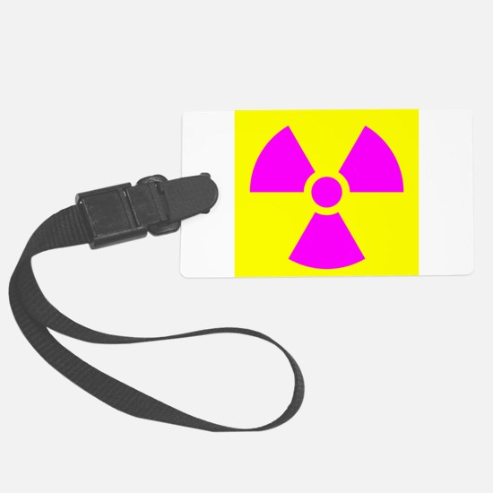 Radiation Warning Luggage Tag