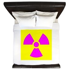 Radiation Warning King Duvet