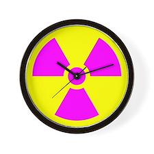 Radiation Warning Wall Clock