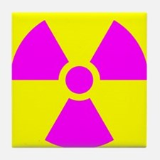 Radiation Warning Tile Coaster