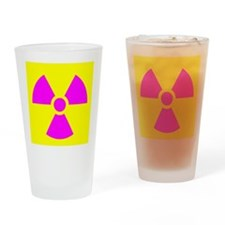 Radiation Warning Drinking Glass