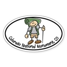 Colorado Nat Monum-Boy Hiker Oval Decal