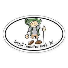 Denali Boy Hiker Oval Decal