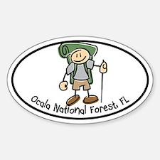 Ocala Boy Hiker Oval Decal