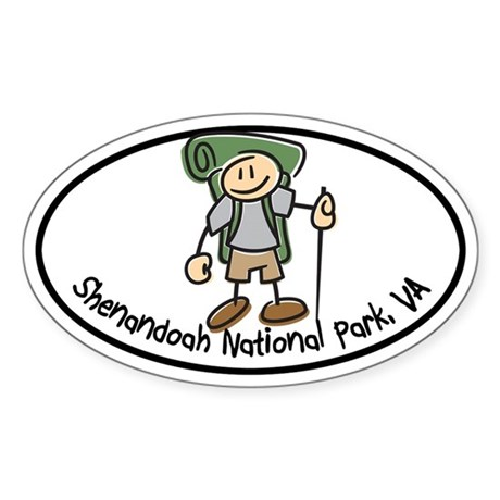 Shenandoah Boy Hiker Oval Sticker (Oval)