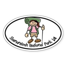 Shenandoah Girl Hiker Oval Decal