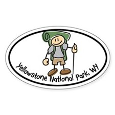 Yellowstone Boy Hiker Oval Decal