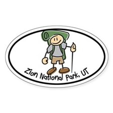 Zion Boy Hiker Oval Decal