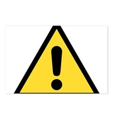Warning sign Postcards (Package of 8)