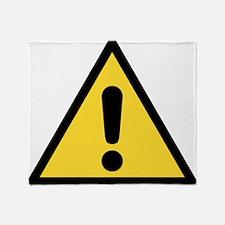 Warning sign Throw Blanket