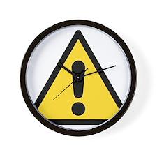 Warning sign Wall Clock