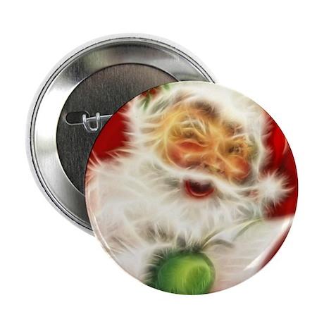 "Fractal Santa 2.25"" Button"
