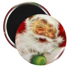 Fractal Santa Magnet