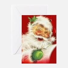 Fractal Santa Greeting Card