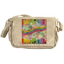 Colorful Musical Theme Messenger Bag