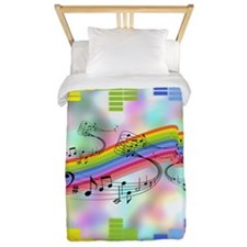 Colorful Musical Theme Twin Duvet