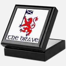 The brave Scottish lion Keepsake Box